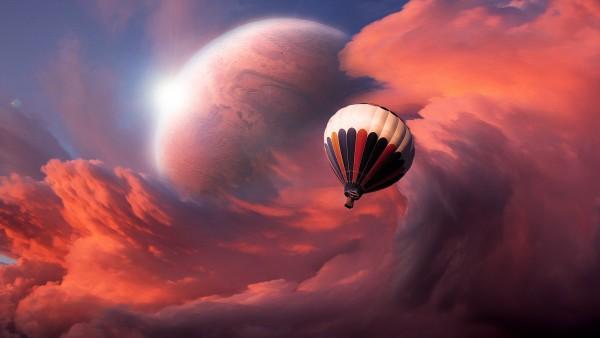 неожиданное путешествие на воздушном шаре HD обои
