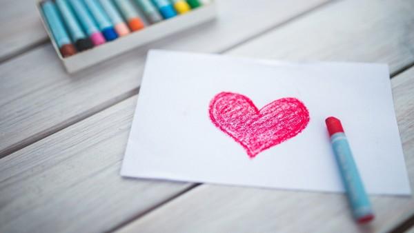 Любовь, сердца, эскиз, открытка любовная, сердце, романтика, настроение