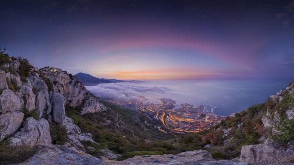 Монако летом восход hd обои для стола