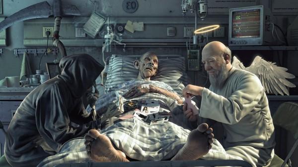 скачать картинку смерть играет в карты