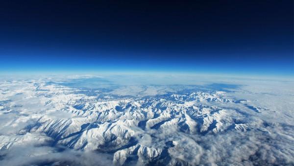 земля, горный хребет, небо, космос, Земля, планета