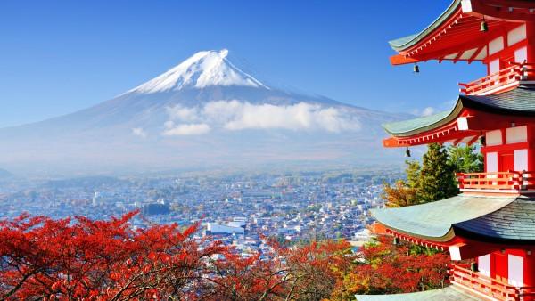 Гора, Фудзи, Япония, высокая гора, небо, облока