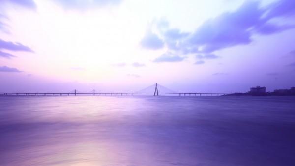 Парк Шиваджи, мост, Мумбаи, HD, небо, море