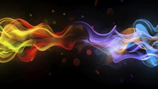 Цветной дым фоновые обои HD