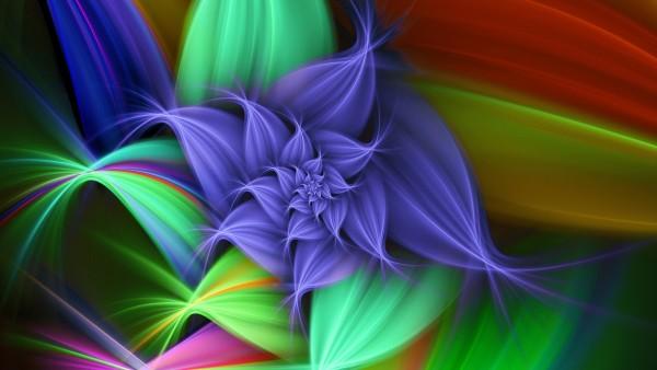 Красочный цветок, Colourful Flower, 1920x1080, HD, абстрактные