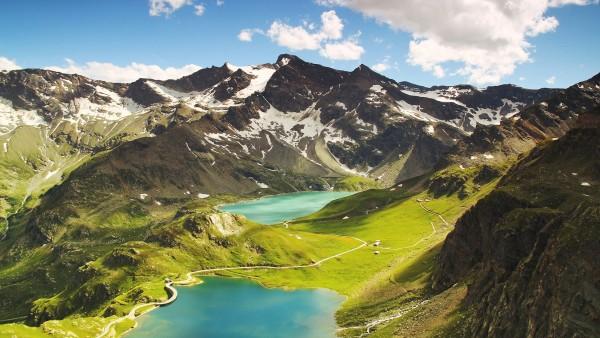 Озеро Черезоле, Черезоле-Реале, Италия, горы, небо