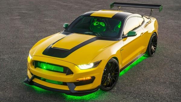 автомобиль, желтый, мустанг, форд, шелби, Ford Shelby, GT350, Mustang
