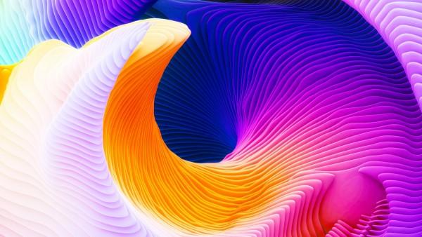 3Д абстрактные спирали цветные
