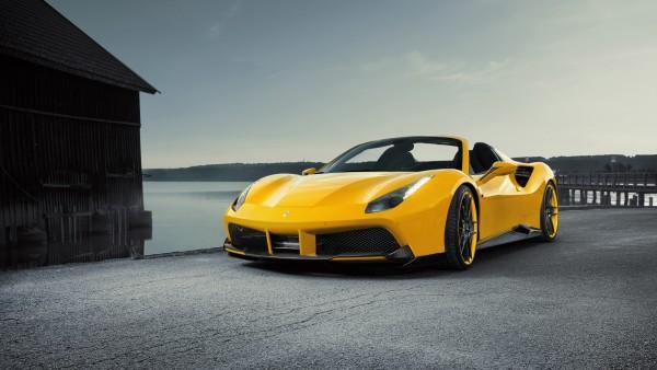 2017 Ferrari 488 желтый