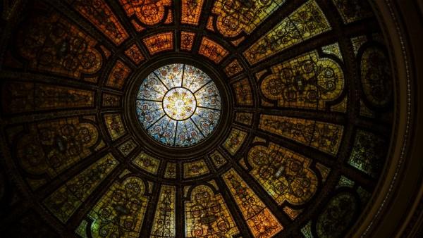 Чикагский культурный центр купол фото на рабочий стол