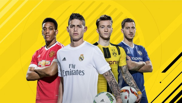 FIFA 17, Хамес Родригес, Эден Азар, Антони Марсьяль, Марко Ройс обои hd