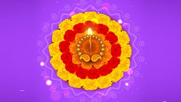 Ранголи, рисунок-молитва, Дивали, diwali rangoli, 4K, 3840x2160 обои