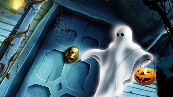 halloween, привидение, ночь, Хэллоуин, ghost, тыквы обои