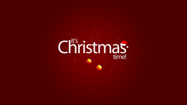 Рождественское время, красный фон, christmas time обои