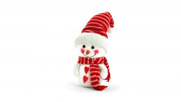Снеговик, улыбка, белый, фон, snowman, christmas, outfit, Рождественский наряд, Новый год, Рождество, снег, праздник