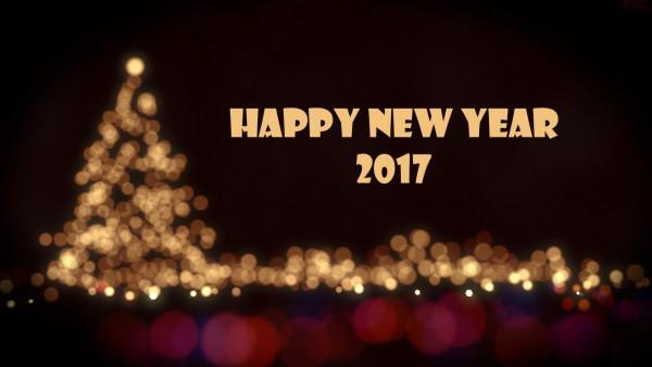 Happy New Year 2017 широкоформатные обои hd