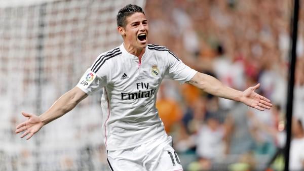 Хамес Родригес, футболист, полузащитник, Реал Мадрид, james rodriguez обои