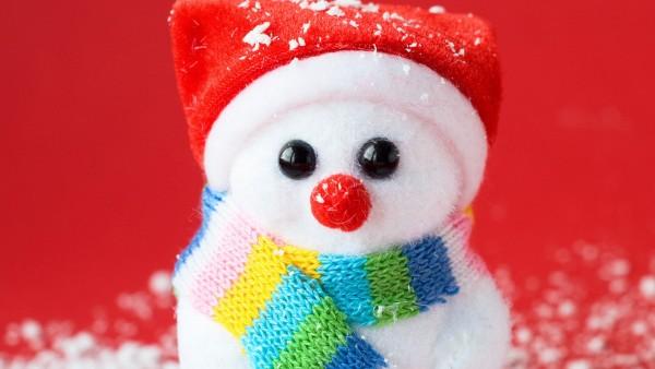 cute, snowman, милый, снеговик, снеговичок, красный нос, новый год, рождество, праздник, веселье, HD обои, картинки