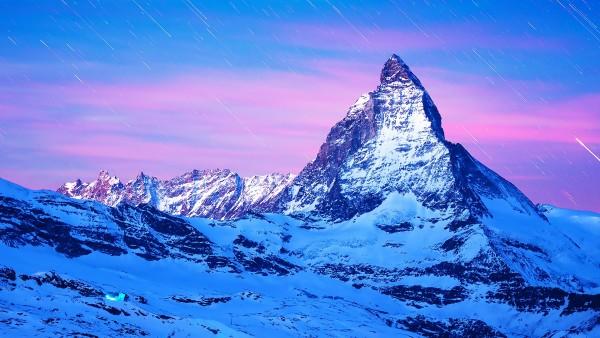 Маттерхорн вершина в Пеннинских Альпах обои на стол