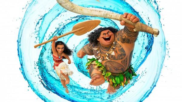 широкоформатные обои, моана, moana, мультфильм, Disney, волна, Моана Ваялики, Мауи