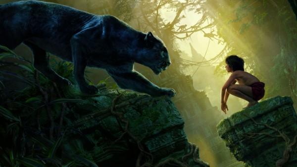Книга джунглей, черная пантера, Багира, Маугли, ребенок обои