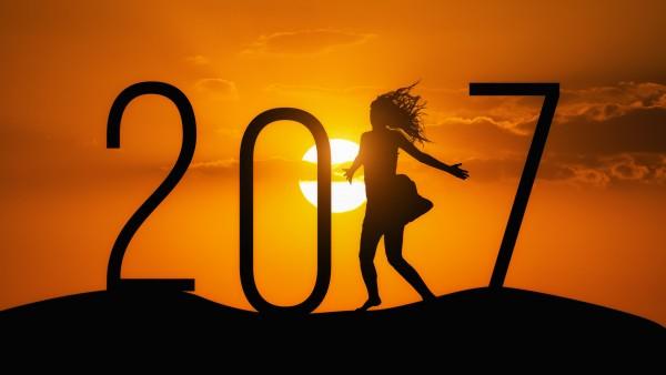 3840x2160, 4К, 2017, новый год, девушка, закат, день, рождество, праздник, HD обои, фото