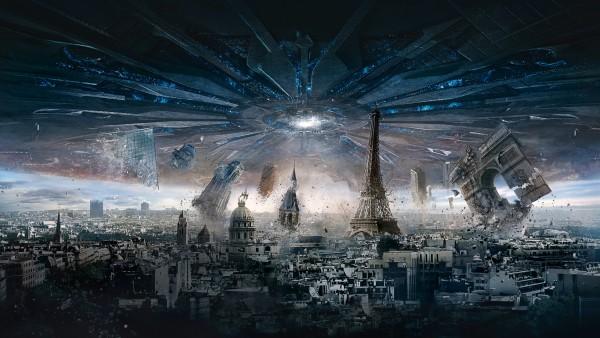 День независимости, Париж, всплеск, взрыв, фильм, обои