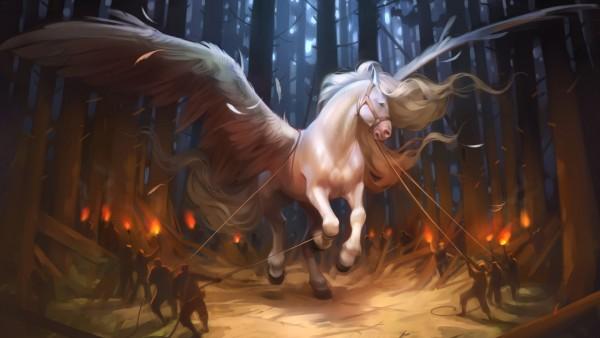 Пегас, лошадь, pegasus, horse, конь, крылья обои