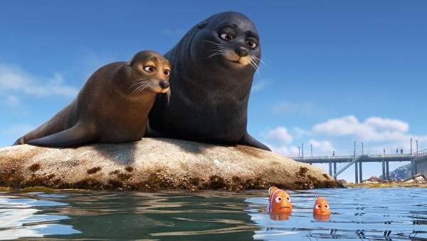 Дори, рыбка, синева , мультфильм, море, дисней, Pixar, Disney,  рыбка, Пиксар, Анимация, nemo, fish, animation, В поисках Дори, тюлени, немо, Finding Dory, seals