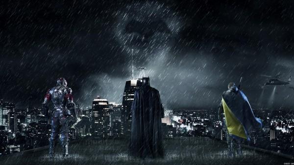 Готэм-сити, Batman, бэтмен, город, ночь обои
