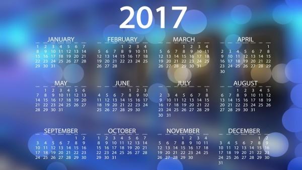 2017, calendar, 3840x2160, 4К, обои, календарь, фоны, заставка