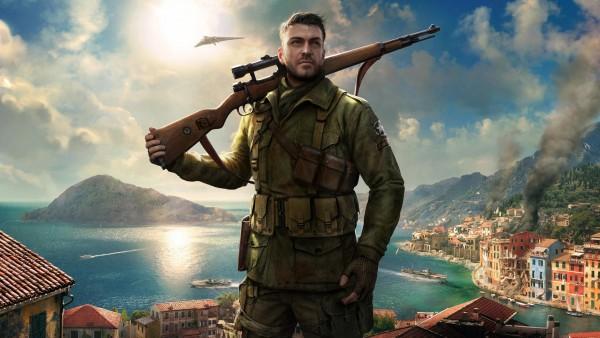 Sniper Elite 4, game, элитный снайпер, винтовка, игра, город обои HD