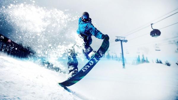сноускейт зимний спорт обои HD