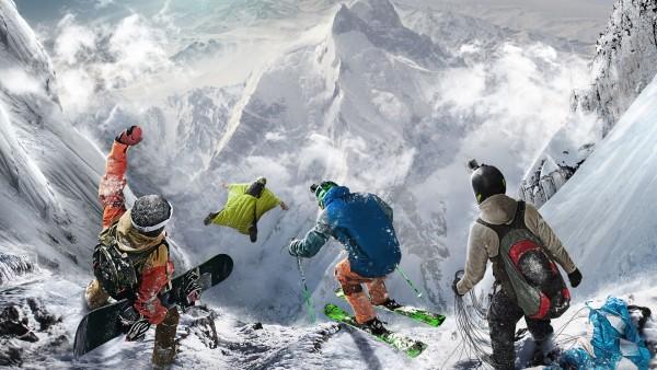 вингсьют, экстрим, экстрималы, горы, игра, сноуборд, небо, горные лыжи, экстримал, спорт, обои, HD