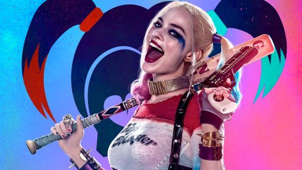 Харли Квинн, Harley Quinn, бита, смех, улыбка, суперзлодейка, DC Comics, отряд самоубийц, фильм обои