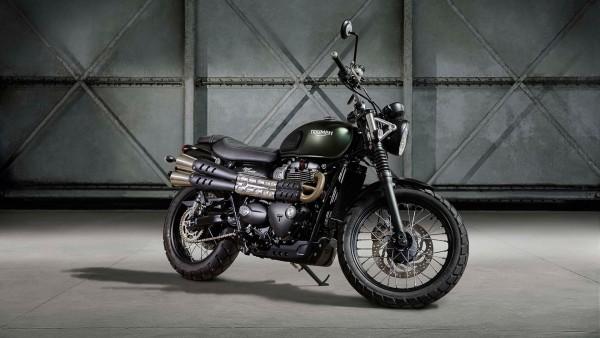 мотоцикл Triumph Street Scrambler 2017 обои HD