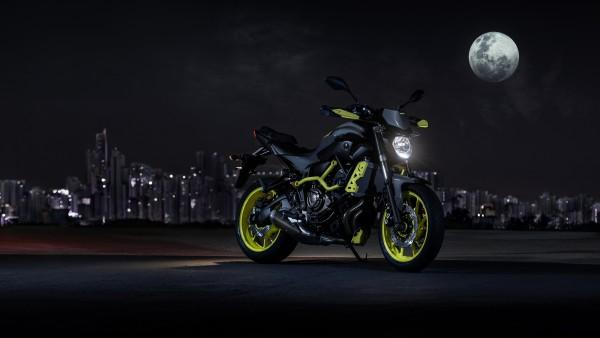 2017 Yamaha MT-07 мотоцикл в разрешении 3840x2160 обои 4k