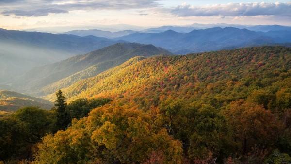 Голубой хребет горы Северная Каролина обои на стол