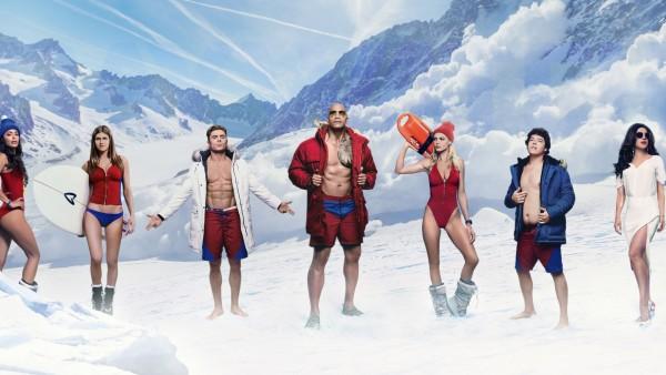 Спасатели Малибу постер к фильму 2017 года на фоне зимы обои