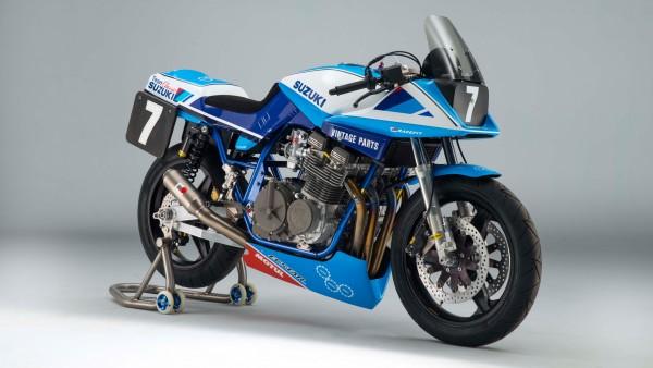 Team Classic Suzuki GSX1100SD Katana Race Bike мотоцикл обои 4k