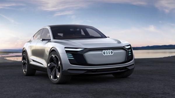 Audi e-tron Sportback концепт автомобиль обои HD