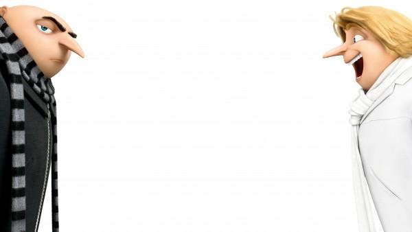 Грю и Дрю братья-близнецы на белом фоне обои 4k 3840x2160