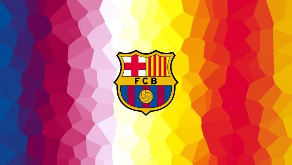 4k, 3840x2160, ФК Барселона, логотип, футбол, сине-гранатовые, спорт обои HD