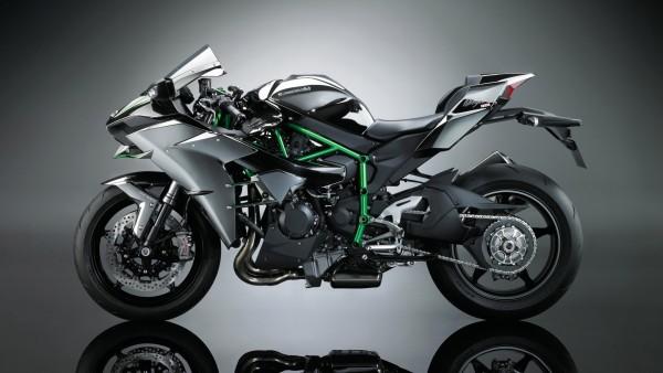 2017 Kawasaki Ninja H2 мощный мотоцикл обои HD