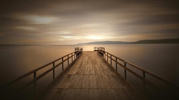док, причал, пристань, тихий, спокойный, рассвет, водоем обои HD