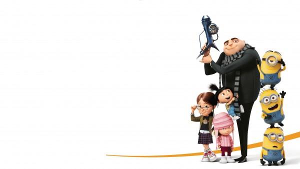 Миньоны, Грю, 4K обои, 3840x2160, Гадкий я,  мультфильм, дочки грю