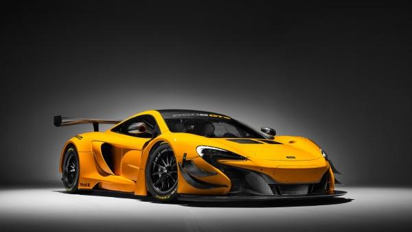 McLaren 650S GT3 желтого цвета обои HD