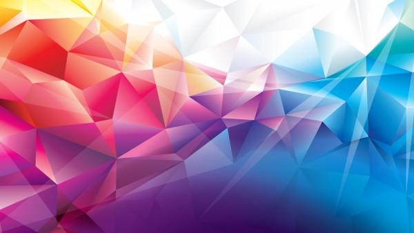 красочные многоугольники обои HD