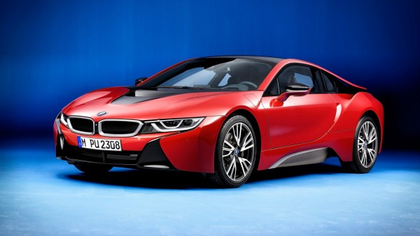 BMW i8 Protonic Red Edition гибридный спорткар обои HD