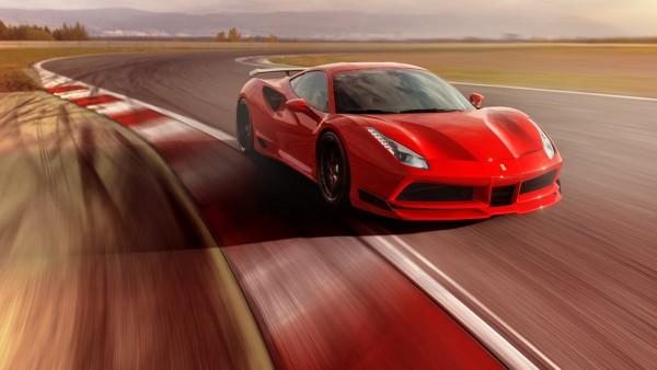 Купе Novitec Rosso Ferrari 488 GTB N-Largo обои HD